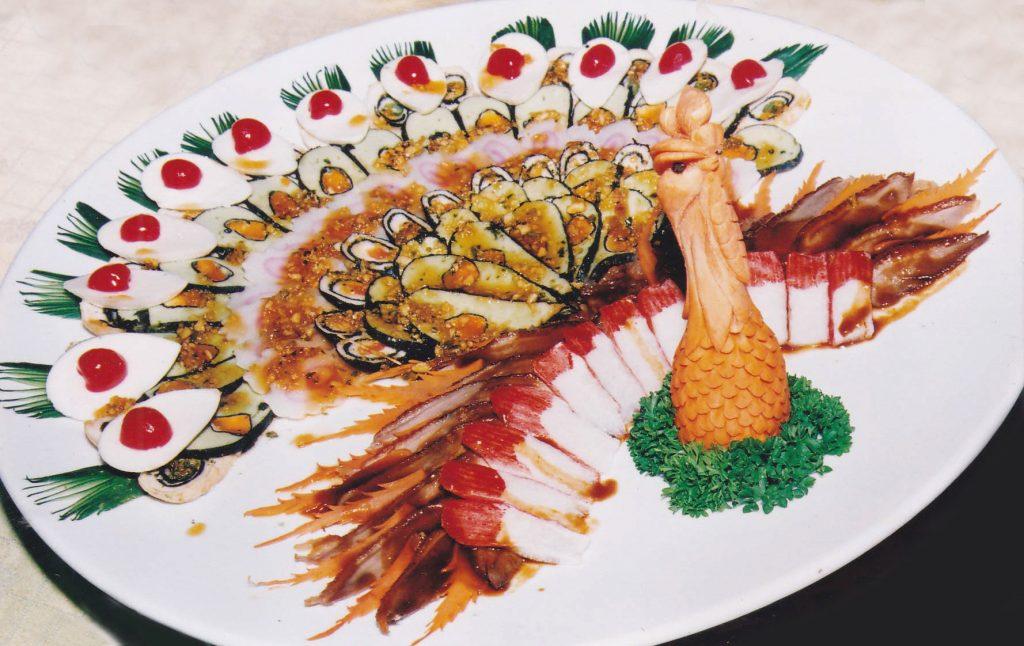 世界美食大师-满汉全席-孔雀开屏