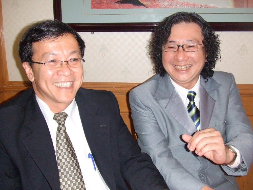 马来西亚食神-马来西亚高等教育部第一副部长拿督何国忠博士以及农业讲师廖城兰於私人饭局
