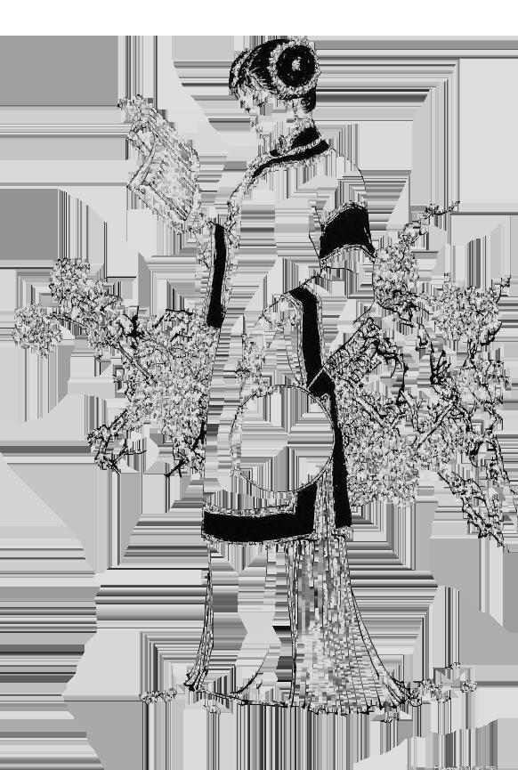 马来西亚食神-少女古代 白描